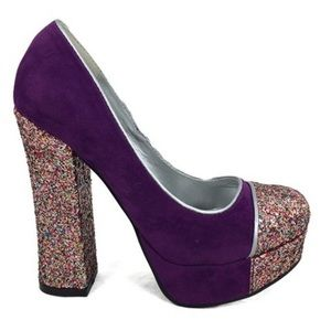 Purple Glitter Platforms